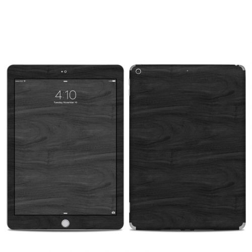 Black Woodgrain iPad 6th Gen Skin