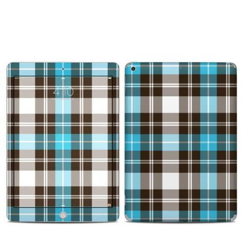 Turquoise Plaid iPad 6th Gen Skin