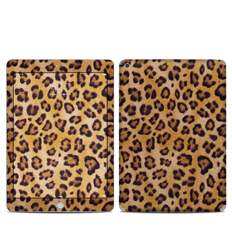 iPad 6th Gen Skin design of Pattern, Felidae, Fur, Brown, Design, Terrestrial animal, Close-up, Big cats, African leopard, Organism with orange, black colors