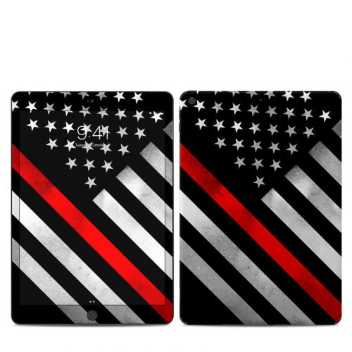 Thin Red Line Hero iPad 7th Gen Skin