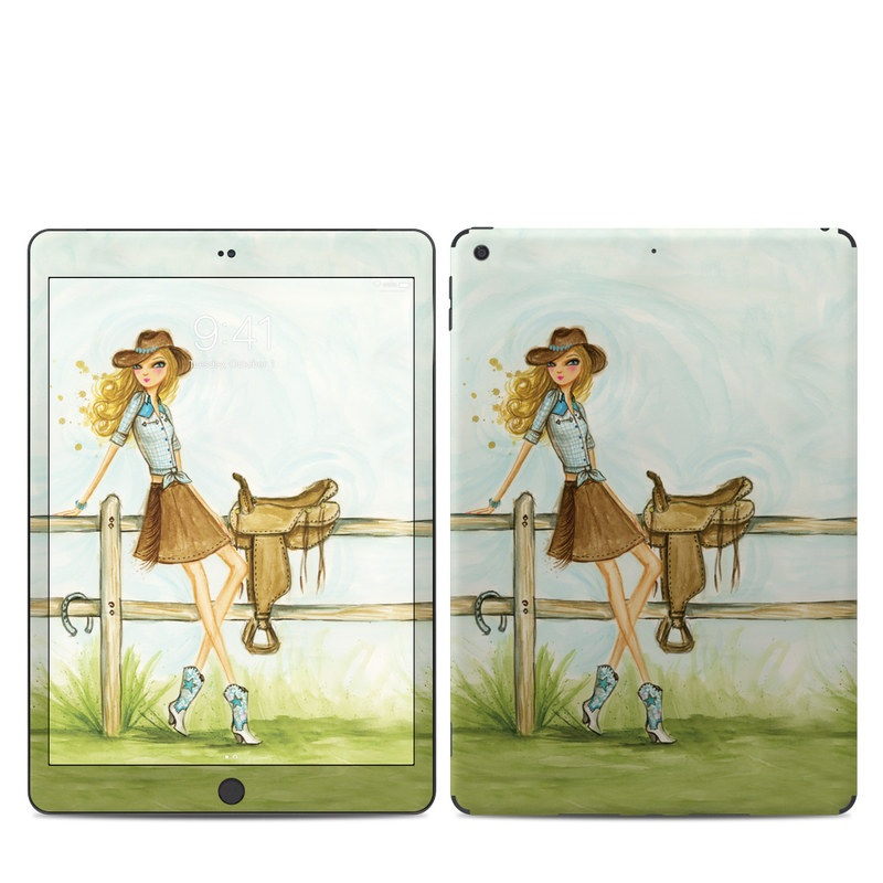 iPad 7th Gen Skin design of Cartoon, Illustration, Art, Watercolor paint, Footwear, Fashion illustration, Grass, Drawing, Painting, Plant with gray, green, red, black colors