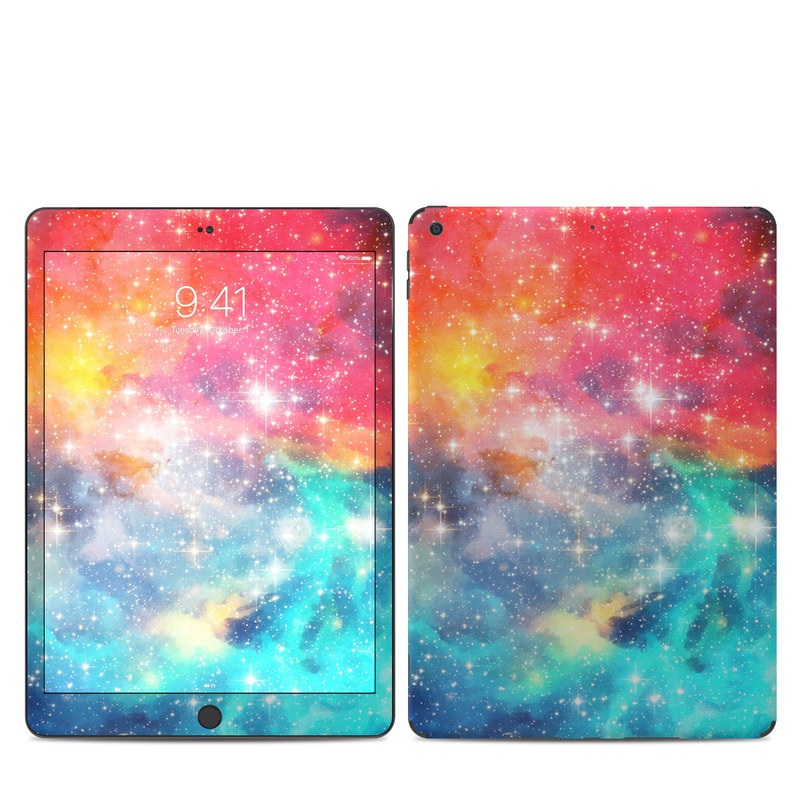 iPad 7th Gen Skin design of Nebula, Sky, Astronomical object, Outer space, Atmosphere, Universe, Space, Galaxy, Celestial event, Star with white, black, red, orange, yellow, blue colors