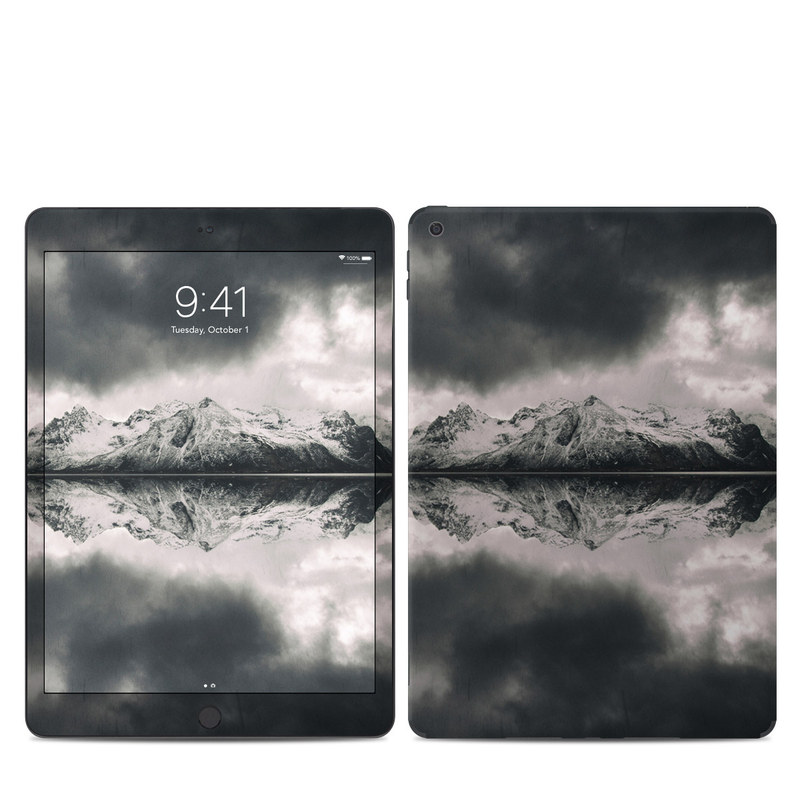 iPad Skin design of Sky, Cloud, Nature, Reflection, Water, Atmospheric phenomenon, Daytime, Black-and-white, Atmosphere, Calm with white, black, gray colors