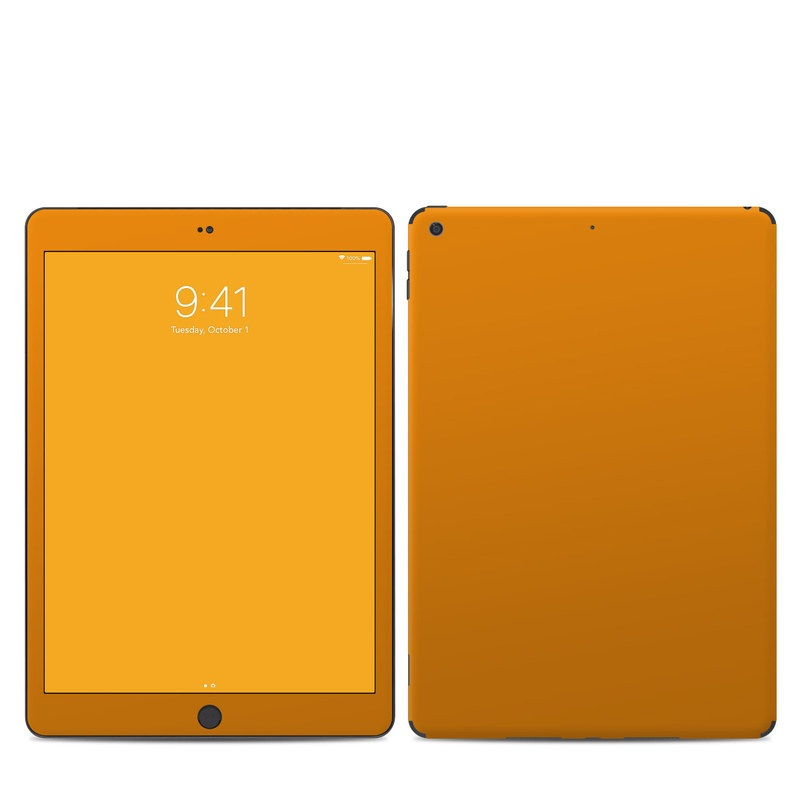 iPad 7th Gen Skin design of Orange, Yellow, Brown, Text, Amber, Font, Peach with orange colors