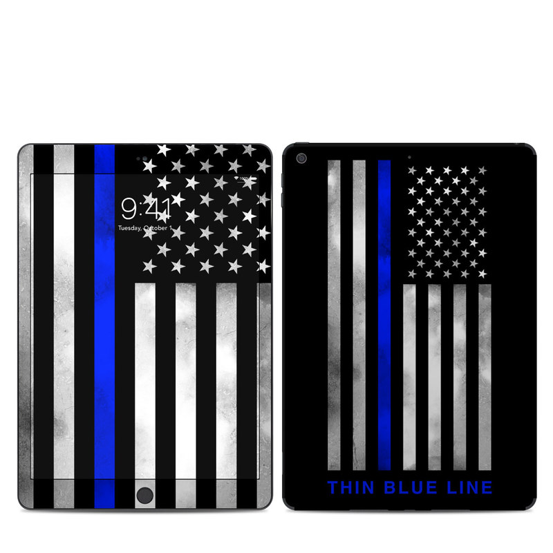 iPad 7th Gen Skin design of Line, Flag, Text, Flag of the united states, Font, Parallel, Symmetry, Black-and-white, Pattern, Graphics with black, white, gray, blue colors