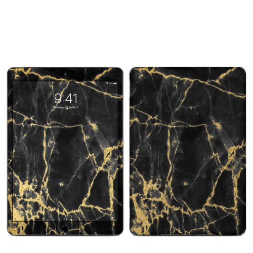 Black Gold Marble iPad Skin