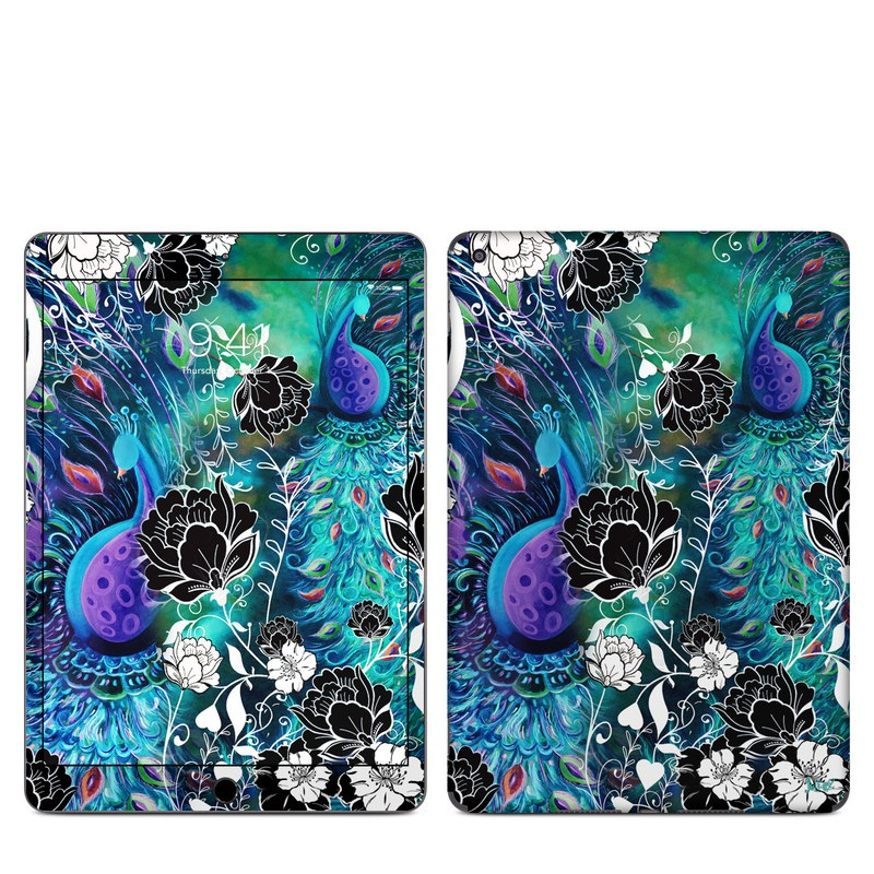 iPad Skin design of Pattern, Psychedelic art, Organism, Turquoise, Purple, Graphic design, Art, Design, Illustration, Fractal art with black, blue, gray, green, white colors