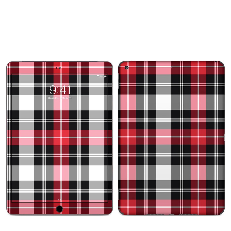 iPad Skin design of Plaid, Tartan, Pattern, Red, Textile, Design, Line, Pink, Magenta, Square with black, gray, pink, red, white colors