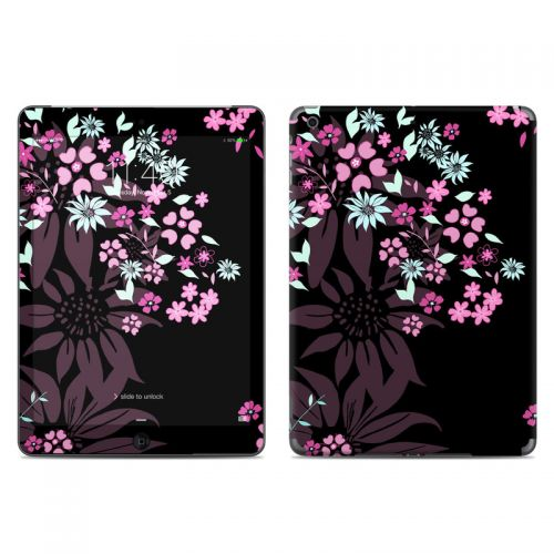 Dark Flowers iPad Air Skin