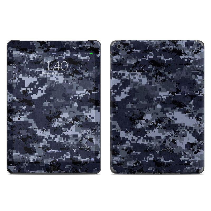 Digital Navy Camo iPad Air Skin