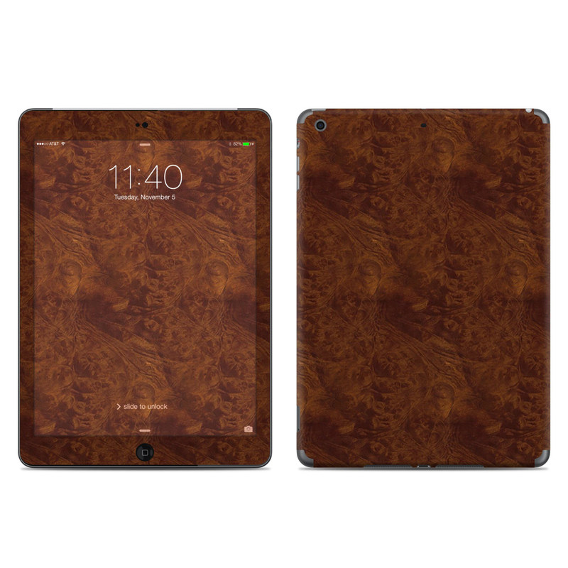 Dark Burlwood iPad Air Skin