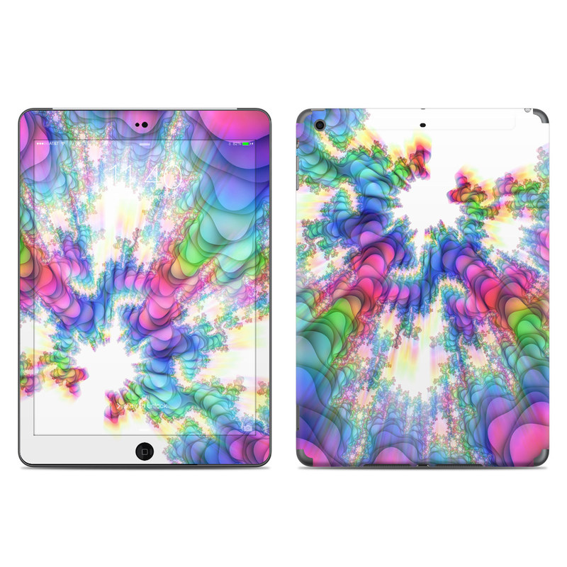 iPad Air Skin design of Fractal art, Psychedelic art, Purple, Colorfulness, Art, Graphic design, Pattern, Graphics, Artwork, Symmetry with gray, white, blue, purple, pink colors