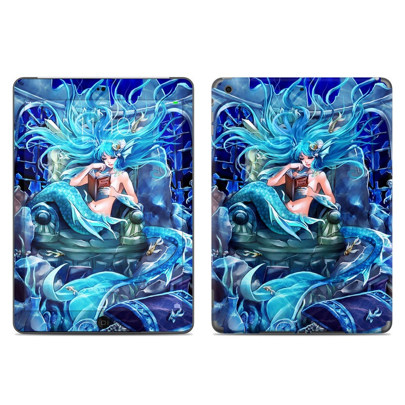 iPad Air Skin design of Cg artwork, Fictional character, Electric blue, Illustration, Art, Mythology, Dragon, Games, Mythical creature with blue, black, yellow, white colors