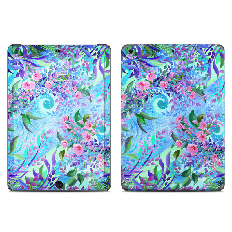 iPad Air 1 Skin design of Psychedelic art, Pattern, Lilac, Purple, Art, Pink, Design, Fractal art, Visual arts, Organism with gray, blue, purple colors