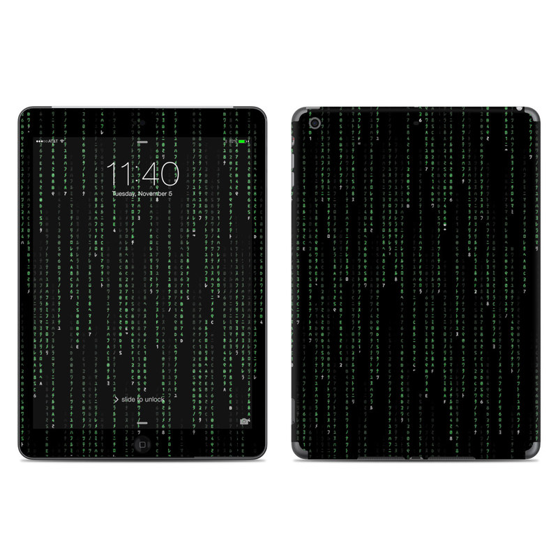 Matrix Style Code iPad Air Skin