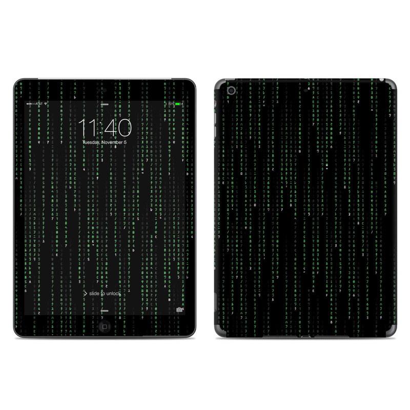 Matrix Style Code iPad Air Skin
