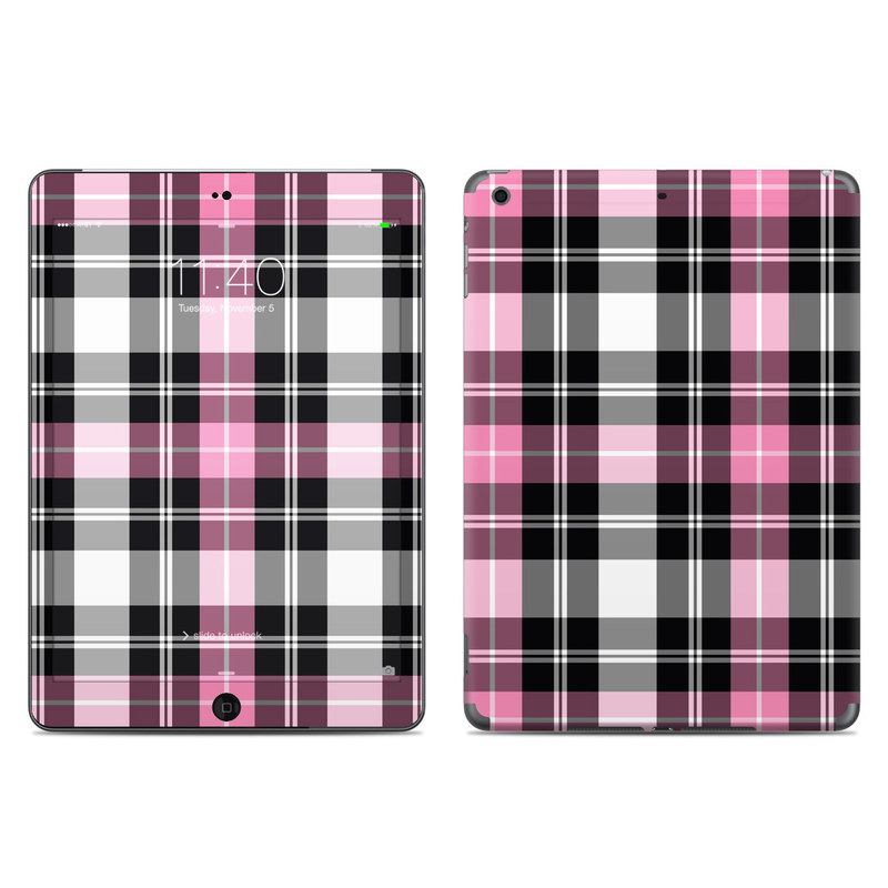 Pink Plaid iPad Air Skin