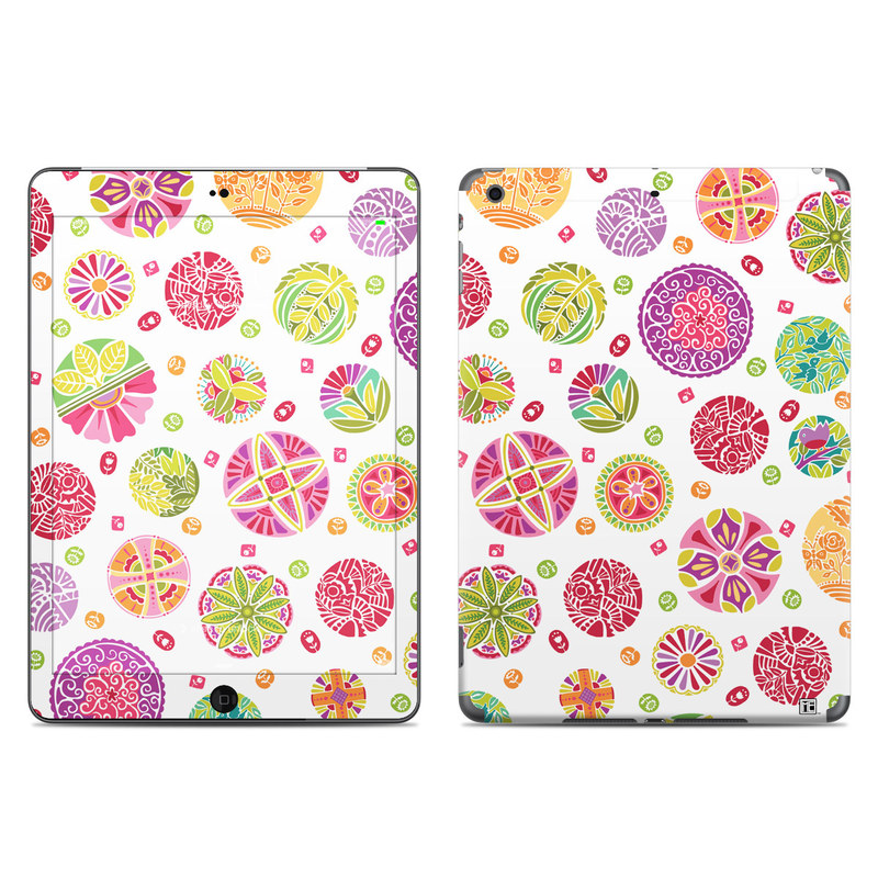 Round Flowers iPad Air Skin