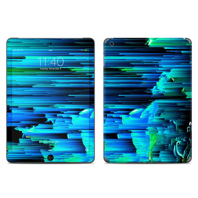 iPad Air 1 Skin design of Blue, Green, Turquoise, Light, Colorfulness, Electric blue with blue, green, black, white colors