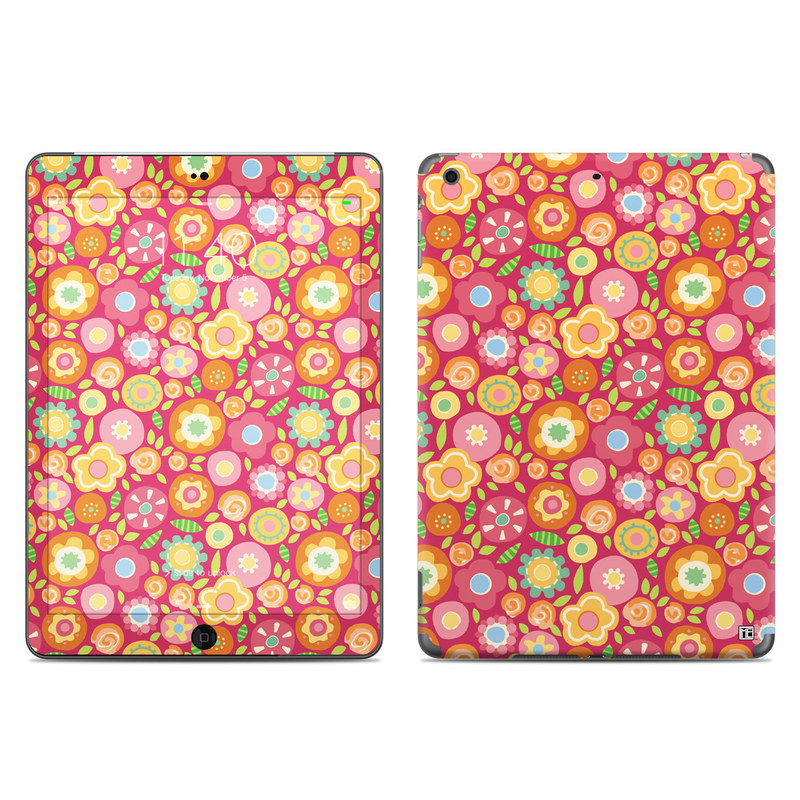 Flowers Squished iPad Air Skin