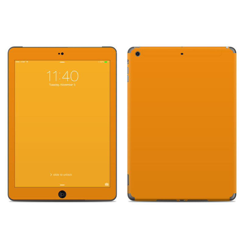 Solid State Orange iPad Air Skin