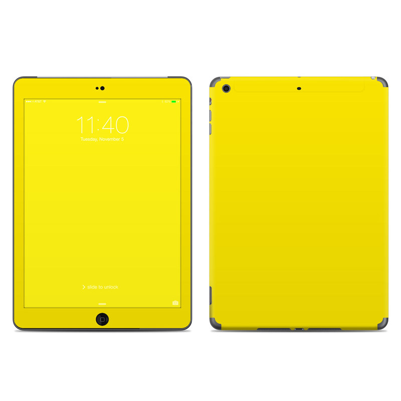 Solid State Yellow iPad Air Skin