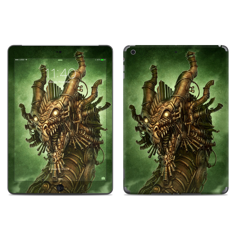 iPad Air Skin design of Illustration, Cg artwork, Fictional character, Mythology, Warlord, Art with black, green, red, gray colors