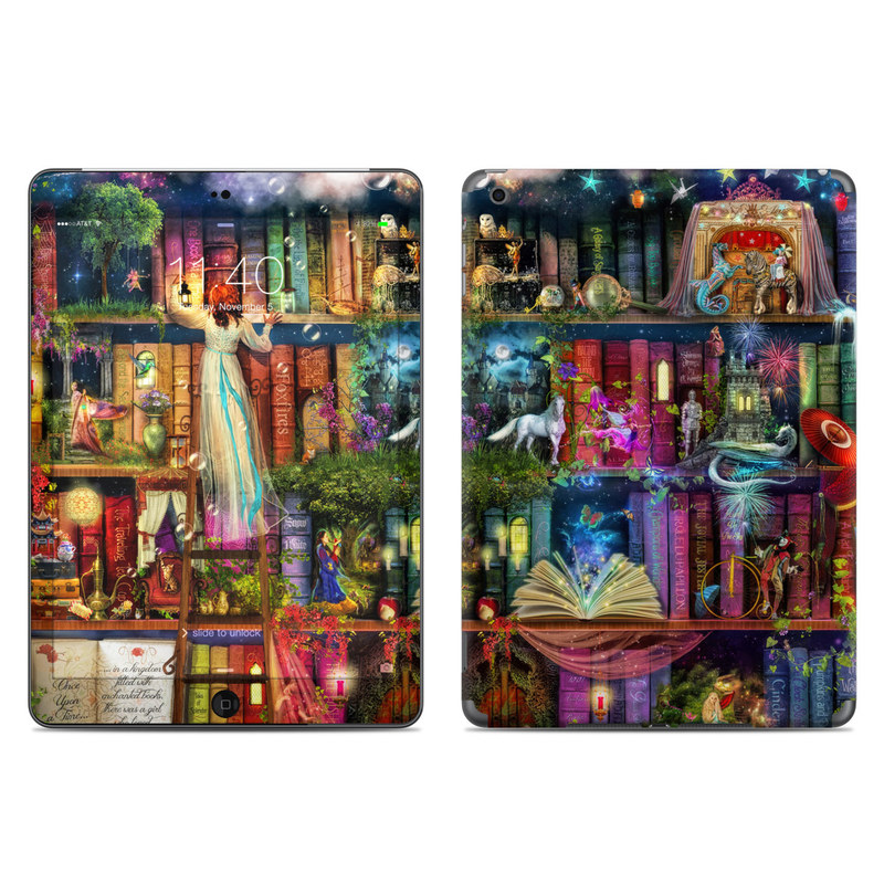 iPad Air Skin design of Painting, Art, Theatrical scenery with black, red, gray, green, blue colors