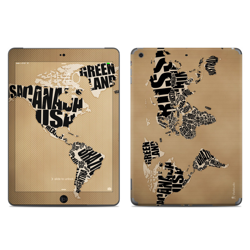 Type Map iPad Air Skin