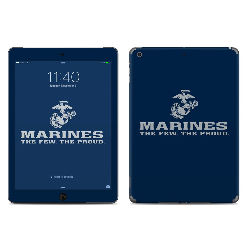 USMC Blue iPad Air Skin