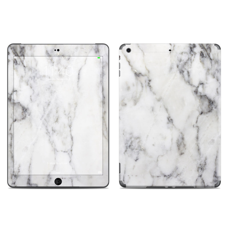 iPad Air Skin design of White, Geological phenomenon, Marble, Black-and-white, Freezing with white, black, gray colors
