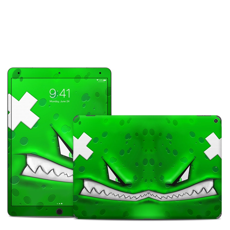 iPad Air Skin design of Green, Font, Animation, Logo, Graphics, Games with green, white colors
