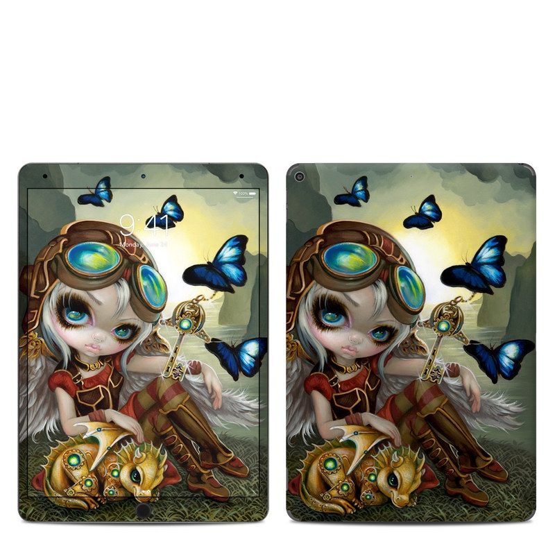 iPad Air 3 Skin design of Cg artwork, Illustration, Fictional character, Art, Mythology, Games, Massively multiplayer online role-playing game with black, green, red, yellow, brown, blue colors