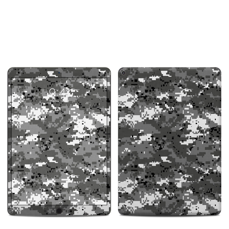 iPad Air Skin design of Military camouflage, Pattern, Camouflage, Design, Uniform, Metal, Black-and-white with black, gray colors