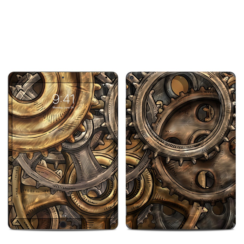 iPad Air 3 Skin design of Metal, Auto part, Bronze, Brass, Copper with black, red, green, gray colors