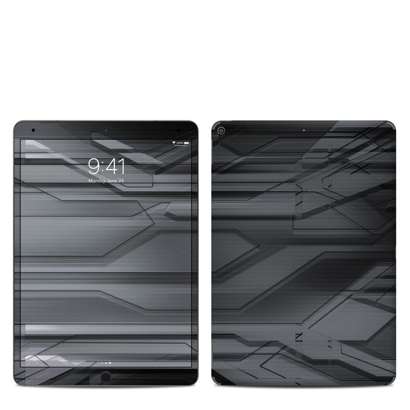 iPad Air 3rd Gen Skin design of Black, Monochrome, Line, Architecture, Black-and-white, Design, Pattern, Sky, Automotive design, Ceiling with black, gray colors