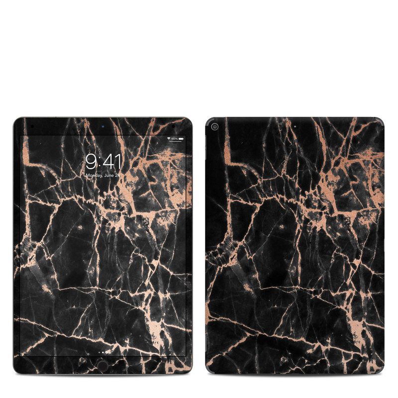 iPad Air 3 Skin design of Branch, Black, Twig, Tree, Brown, Sky, Atmosphere, Plant, Winter, Night with black, pink colors