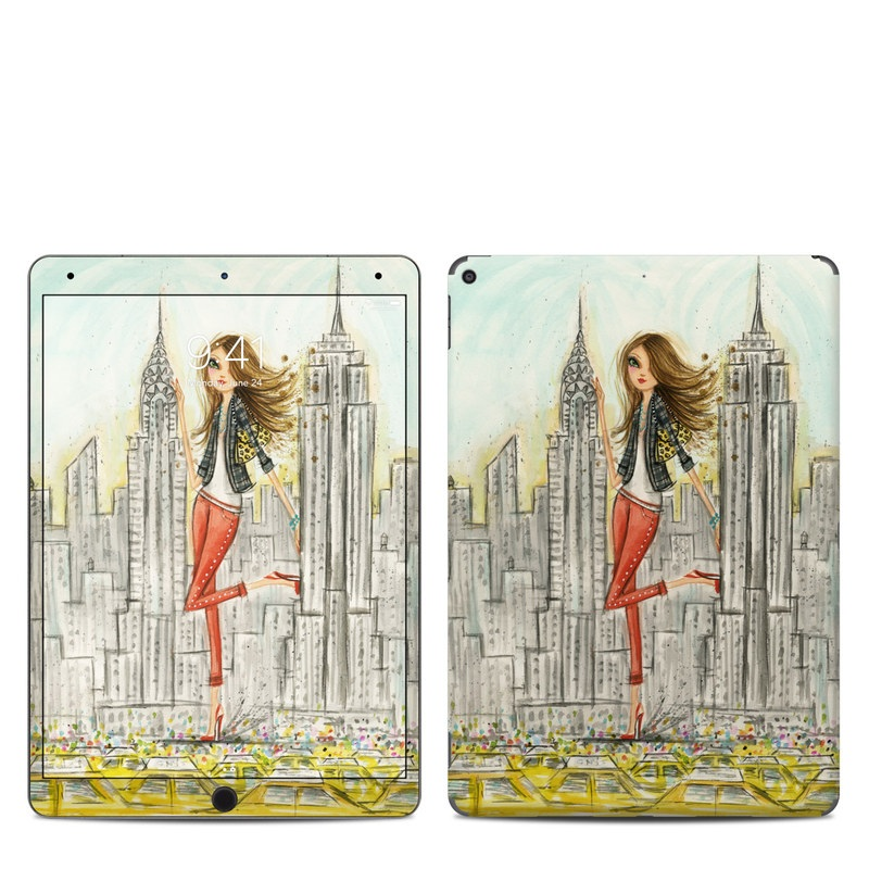 iPad Air Skin design of Human settlement, Fashion illustration, Illustration, City, Art, Architecture, Drawing, Fictional character with gray, green, black, red colors