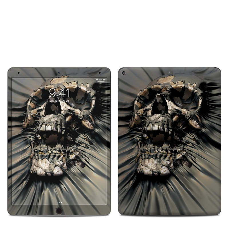 iPad Air Skin design of Cg artwork, Fictional character, Illustration, Demon, Fiction, Supervillain, Mythology, Art with black, green, gray, red colors