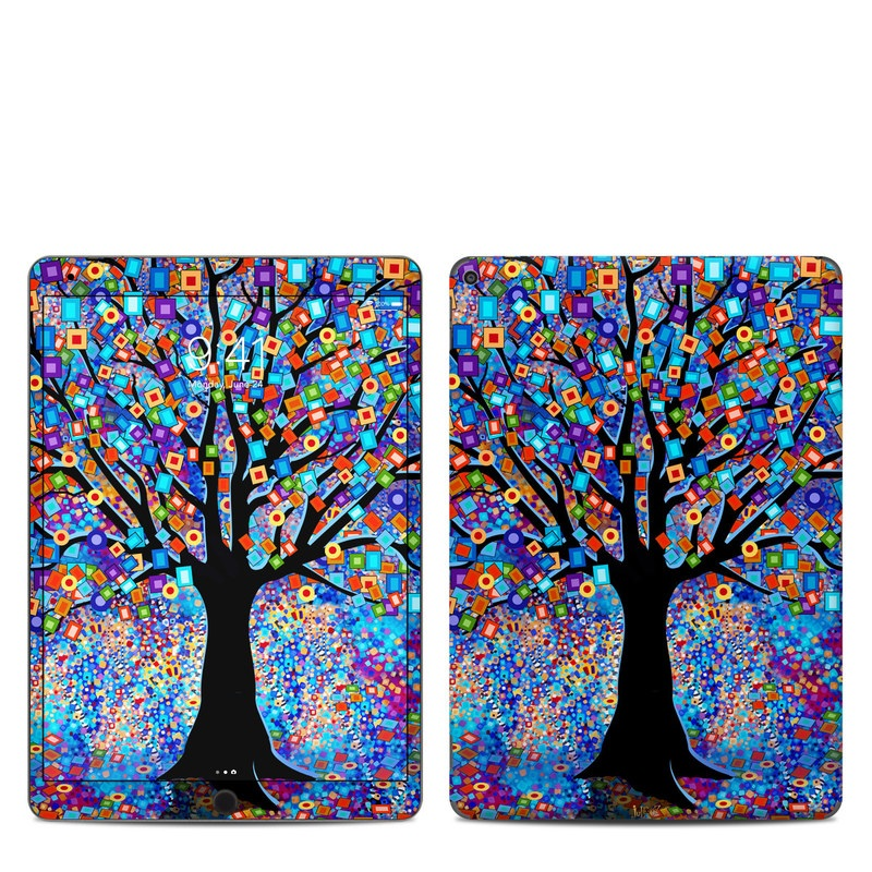 iPad Air Skin design of Psychedelic art, Modern art, Art with black, blue, red, orange, yellow, green, purple colors