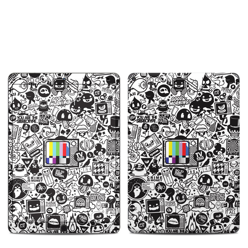 iPad Air 3 Skin design of Pattern, Drawing, Doodle, Design, Visual arts, Font, Black-and-white, Monochrome, Illustration, Art with gray, black, white colors
