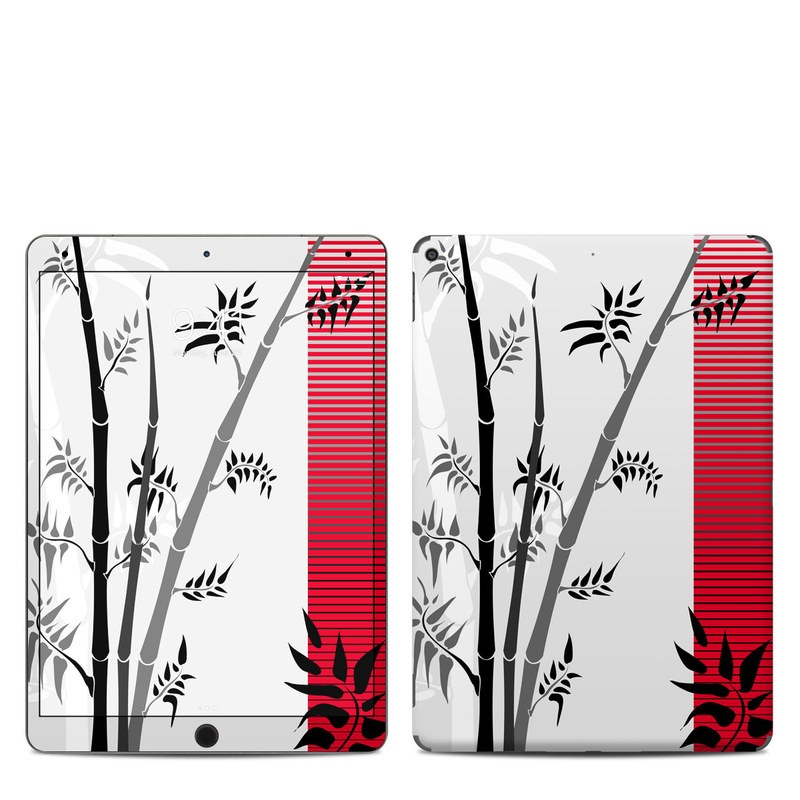 iPad Air 3 Skin design of Botany, Plant, Branch, Plant stem, Tree, Bamboo, Pedicel, Black-and-white, Flower, Twig with gray, red, black, white colors