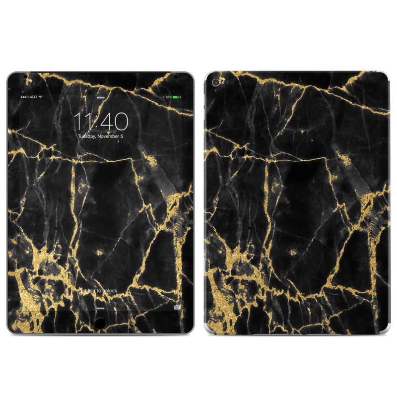iPad Air 2 Skin design of Black, Yellow, Water, Brown, Branch, Leaf, Rock, Tree, Marble, Sky with black, yellow colors