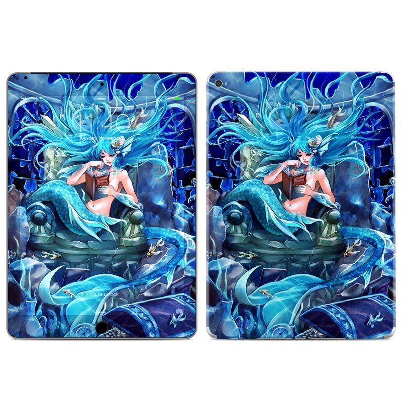 iPad Air 2 Skin design of Cg artwork, Fictional character, Electric blue, Illustration, Art, Mythology, Dragon, Games, Mythical creature with blue, black, yellow, white colors