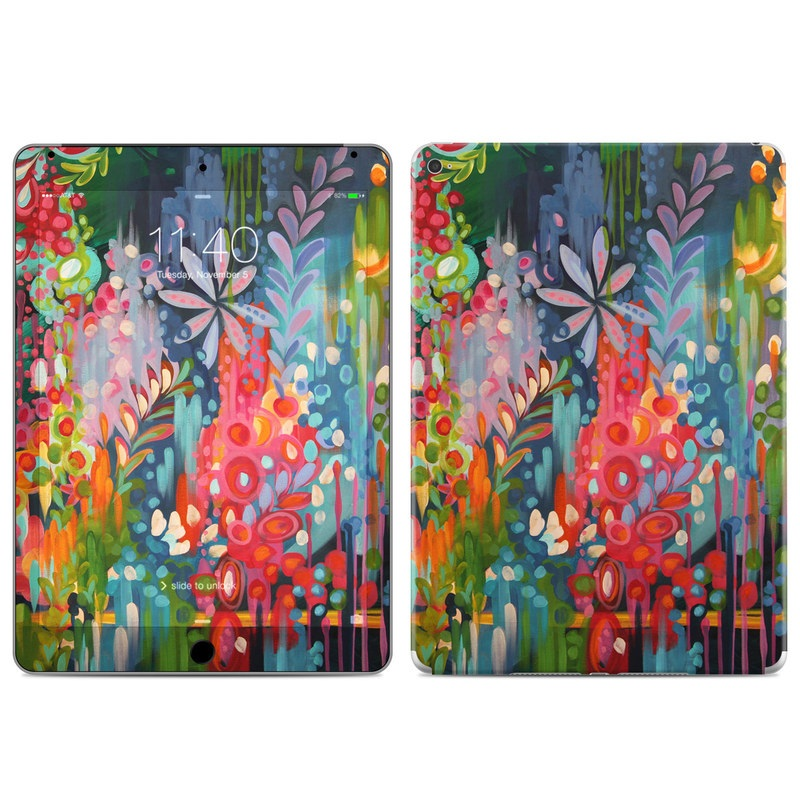 iPad Air 2 Skin design of Painting, Modern art, Acrylic paint, Art, Visual arts, Watercolor paint, Child art, Flower, Plant, Tree with blue, red, orange, purple, yellow, pink, green colors
