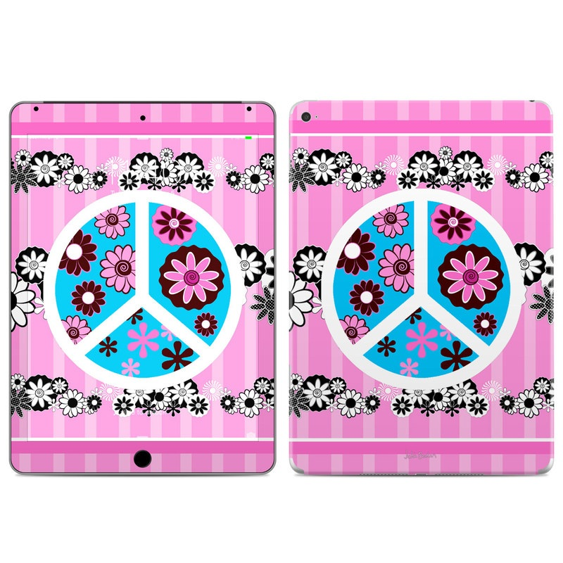 Peace Flowers Pink iPad Air 2 Skin