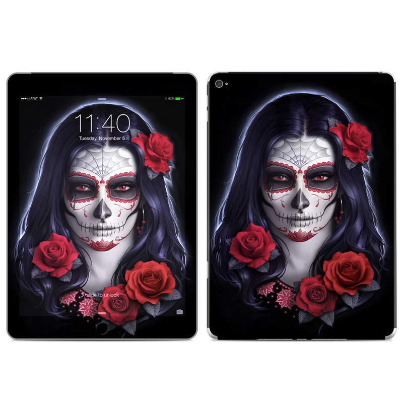 Sugar Skull Rose iPad Air 2 Skin