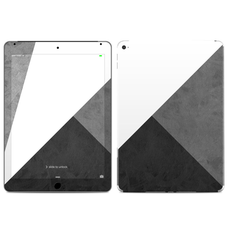 iPad Air 2 Skin design of Black, White, Black-and-white, Line, Grey, Architecture, Monochrome, Triangle, Monochrome photography, Pattern with white, black, gray colors