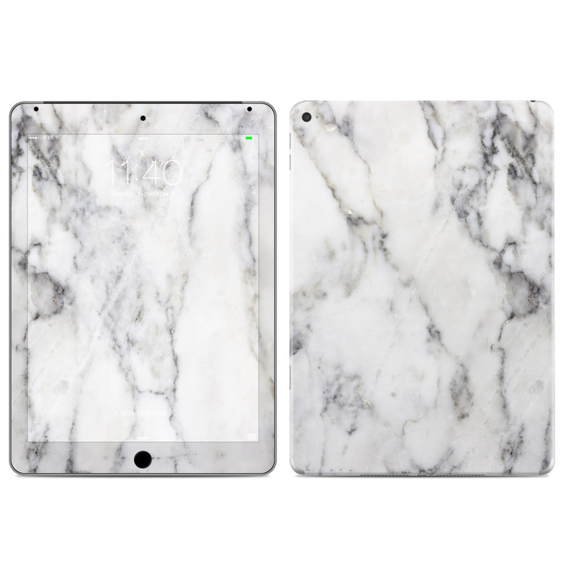 White Marble iPad Air 2 Skin