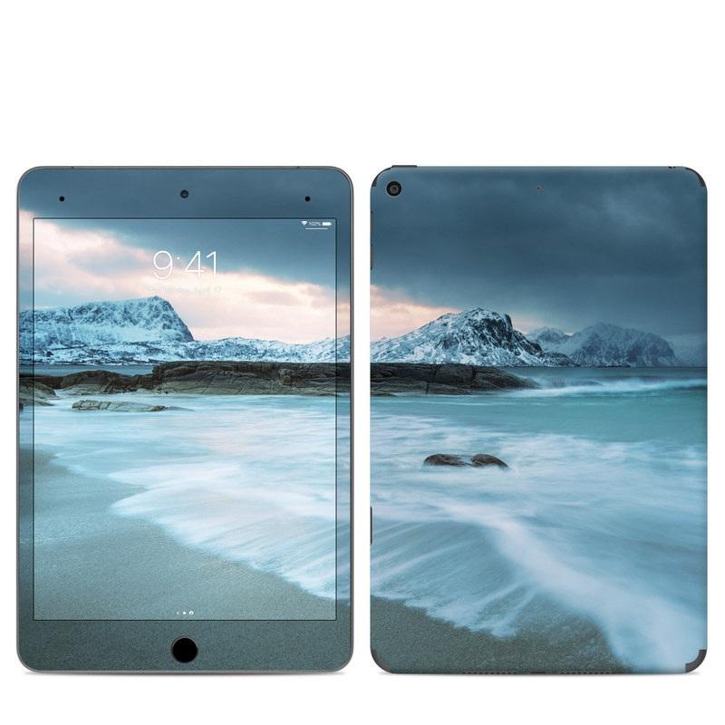 iPad mini 5 Skin design of Body of water, Sky, Nature, Sea, Ocean, Wave, Blue, Water, Coast, Wind wave with white, blue, black, orange colors